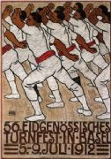 Vintage Swiss poster - 56th National Gymnastic Festival (1912)